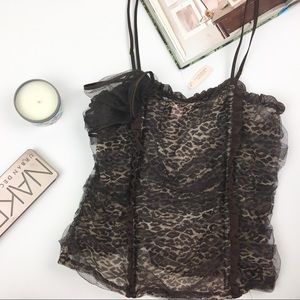 Victoria's Secret NWT Leopard Lingerie Top